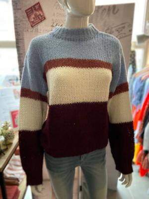 MINGUS Marcell Knit Blue Brown Wine
