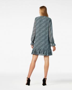 DIBA Mini Dress Grey Blue