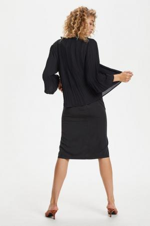 TULLE Pleated Shirt Black