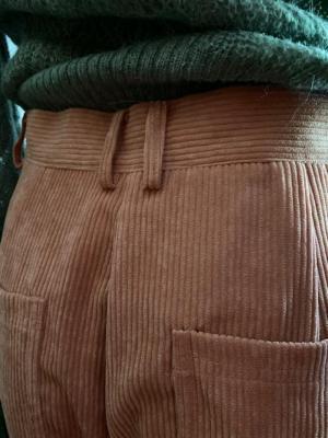 MARIJN Rib Pants logo