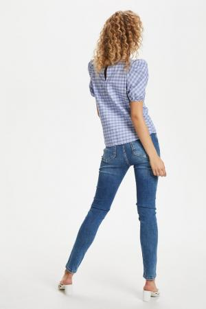 MILANO CHECKED Blouse Palace Blue