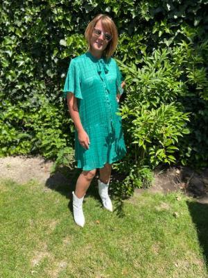 Celeste Mini Dress Short Sleev logo