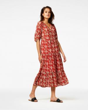 Sonias Dress Short Sleeve Orange