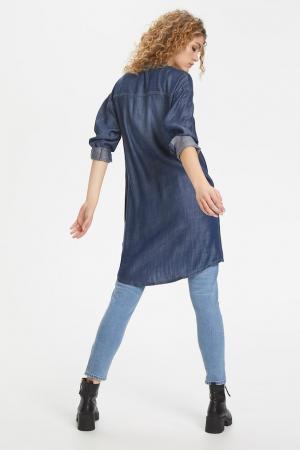 Maria Shirt Dress Medium Blue Was