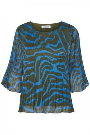 Zitha Blouse Blue Zebra Prin