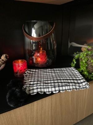 Sjaal pied de poule  Zwart/Wit