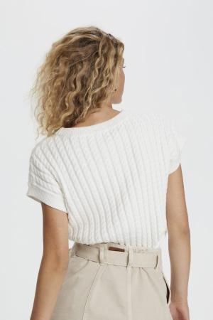 Lula Knit Vest Off White